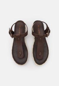 Marc O'Polo - ILARIA - T-bar sandals - dark brown - 5