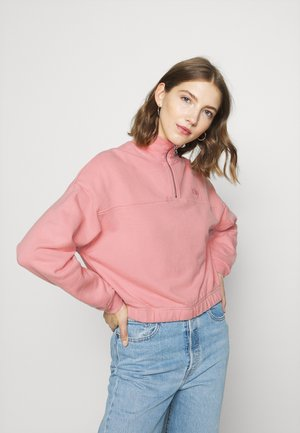 POM QUARTER ZIP - Sweatshirts - blush