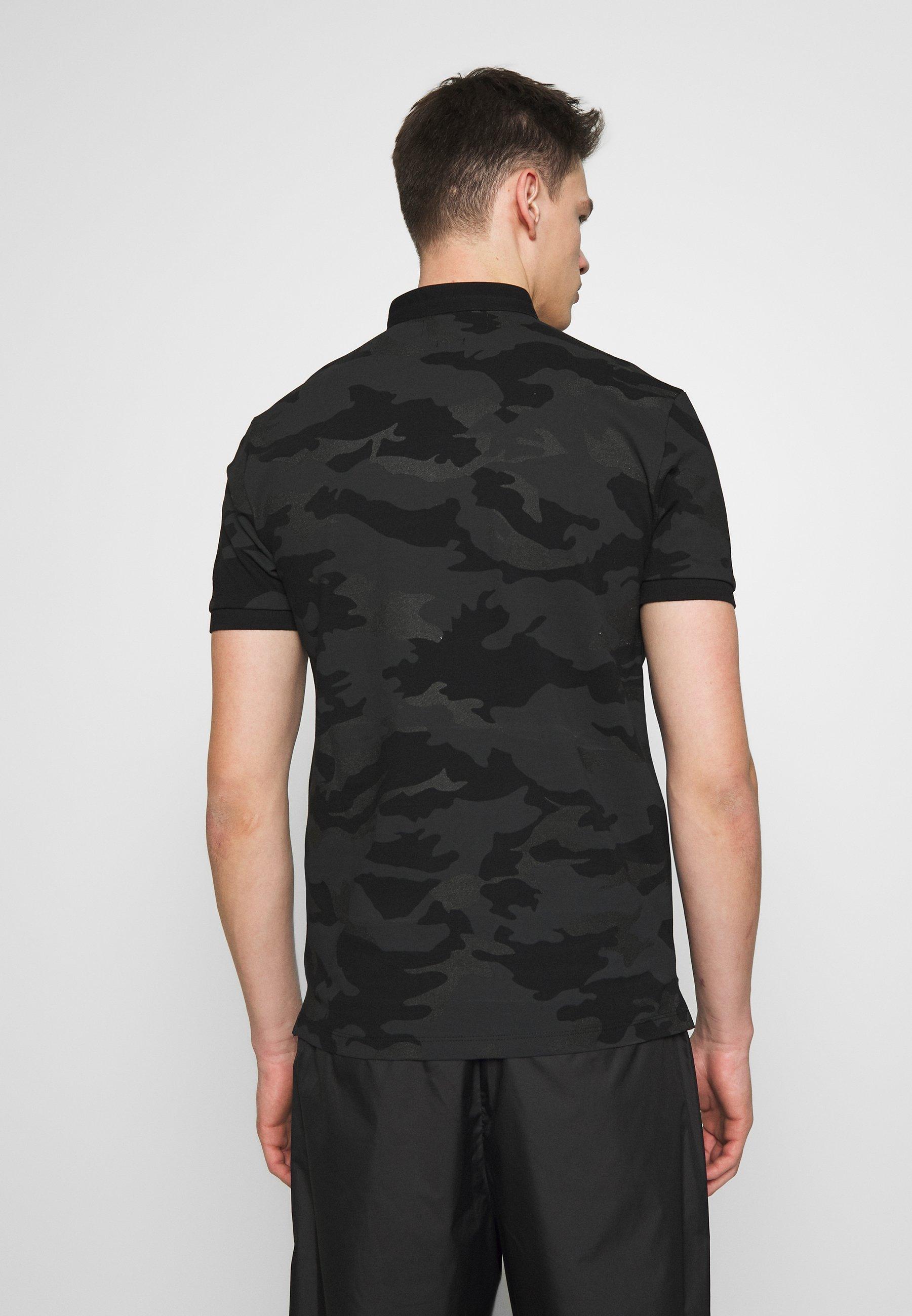 Najlepszy sprzedawca Gorąca wyprzedaż The Kooples CAMO - Koszulka polo - black | Odzież męska 2020 5UasD