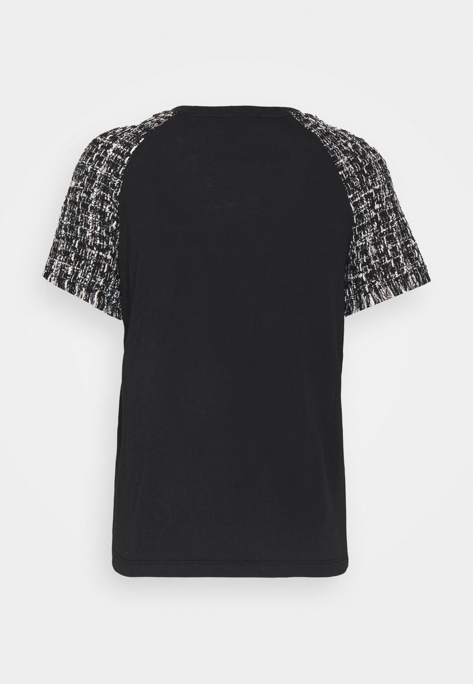 Maje Tiaco - T-shirts Med Print Noir / Blanc/svart