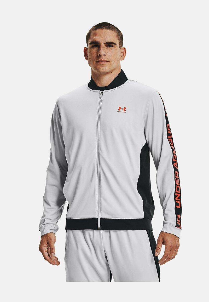 Under Armour - TRICOT FASHION JACKET-BLK - Zip-up sweatshirt - grey
