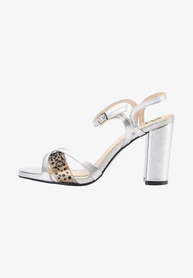 Sandalen met hoge hak - silver metallic