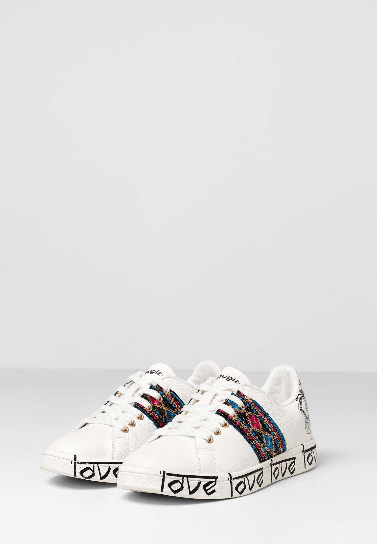 Vendita calda Scarpe da Donna Desigual SHOES_COSMIC_EXOTIC INDIAN Sneakers basse white
