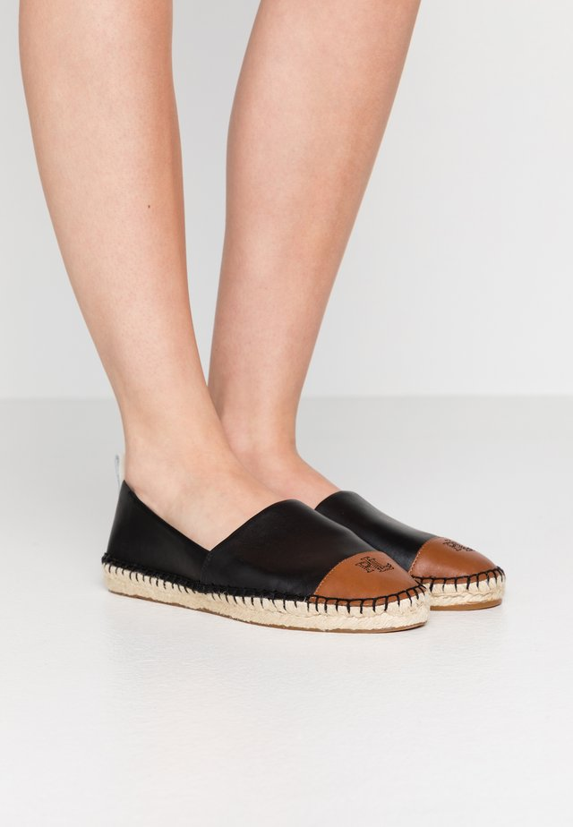 DORIAN CASUAL - Espadrille - black/deep saddle