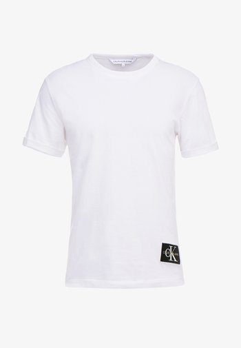 BADGE TURN UP SLEEVE - Jednoduché triko - bright white