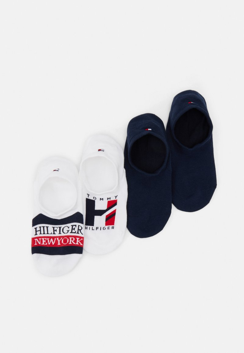 Tommy Hilfiger - MEN FOOTIE GIFTBOX 4 PACK - Calcetines tobilleros - white/navy