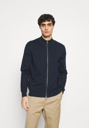 JACKET WITH ZIP - Chaqueta de punto - total eclipse