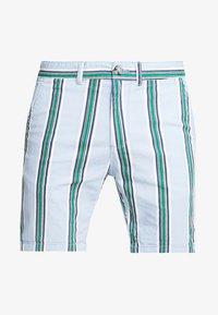 blue/green/navy stripe