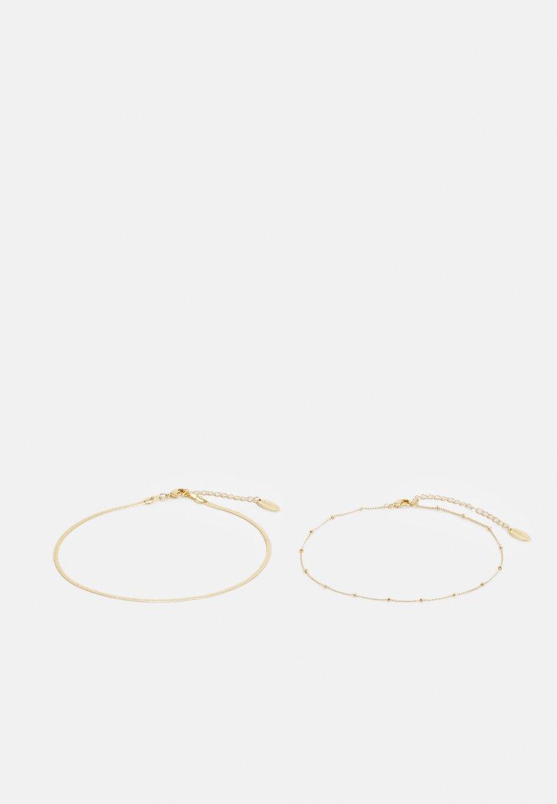 Orelia - SATELLITE & SNAKE CHAIN ANKLET 2 PACK - Bracelet - pale gold-coloured