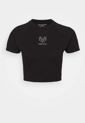 DAKOTA PANEL SLIM TEE - Printtipaita - black/white