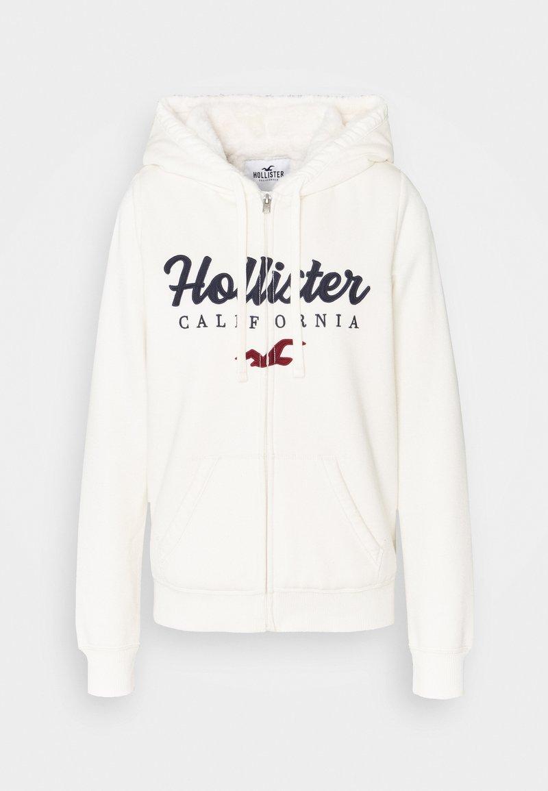 Hollister Co. - TECH CORE SHERPA - Zip-up hoodie - cream