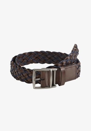 Braided belt - marron