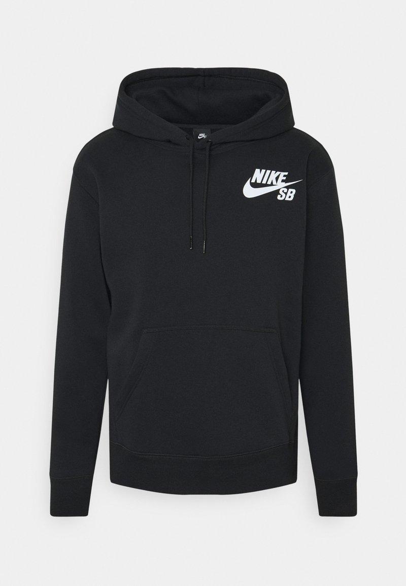 Nike SB - ICON HOODIE UNISEX - Hoodie - black/white