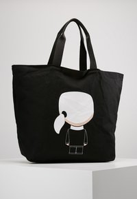KARL LAGERFELD - IKONIK - Bolso shopping - black - 2