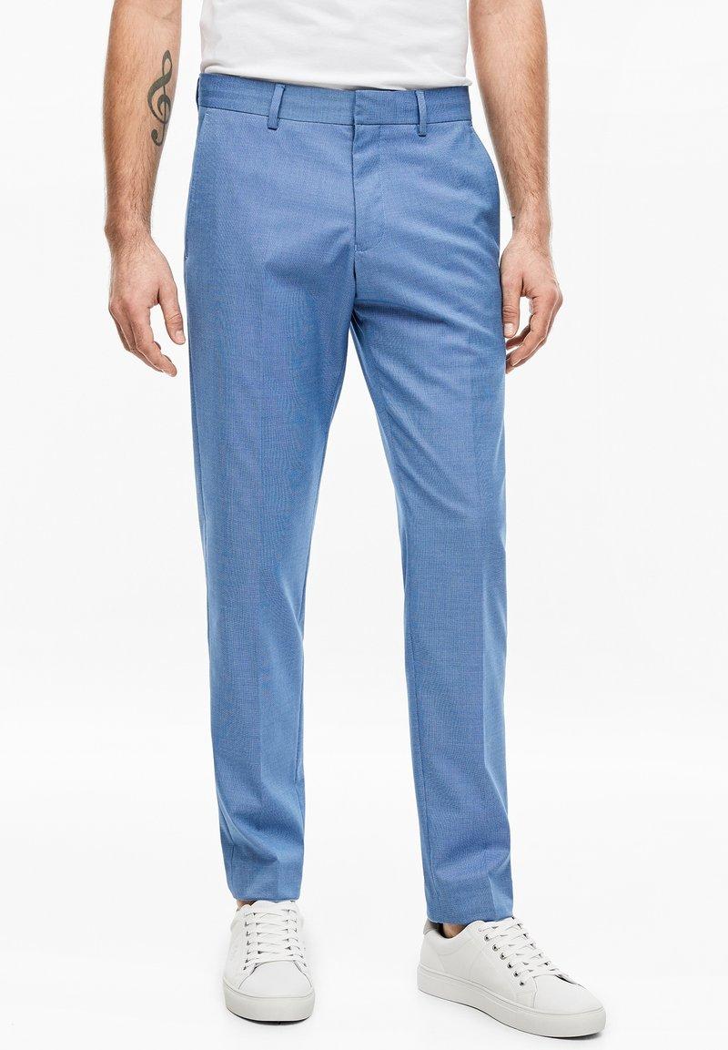 s.Oliver BLACK LABEL - Suit trousers - blue