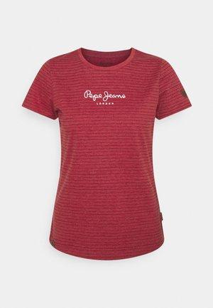 MAHSA - Print T-shirt - winter red