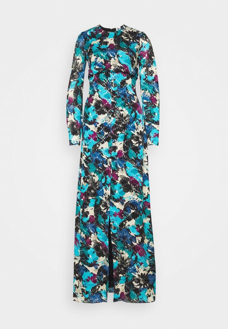 M Missoni - LONG DRESS - Maxi dress - black/ink/teal