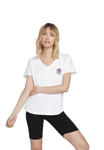 VOLNECK TEE - Print T-shirt - white