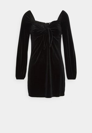 LONG SLEEVE MINI DRESS - Denní šaty - black