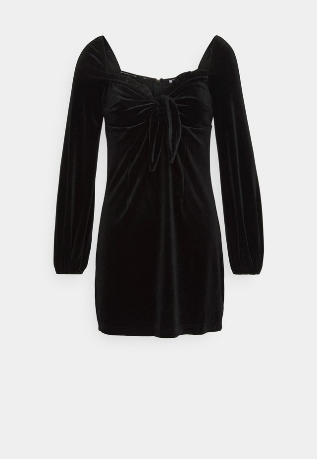 LONG SLEEVE MINI DRESS - Day dress - black