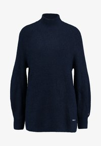 Tommy Jeans - LOFTY TURTLE NECK - Pullover - black iris - 4
