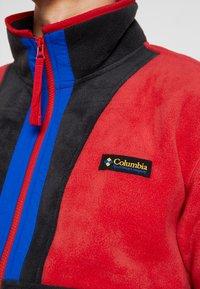 Columbia - BACK BOWL FULL ZIP  - Kurtka z polaru - mountain red/black/azul - 4