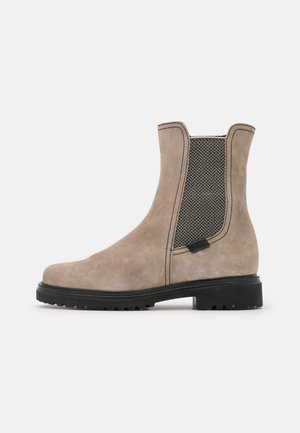 Classic ankle boots - kiesel/schwarz