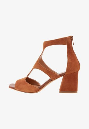 SONIA - Ankle cuff sandals - brown