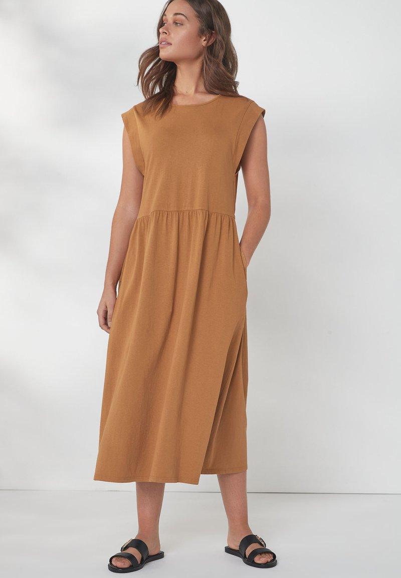 Next - Jersey dress - tan