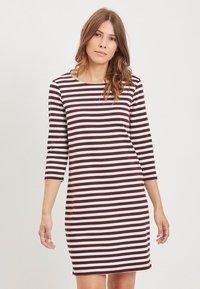 Vila - VITINNY - Day dress - burgundy, white - 0