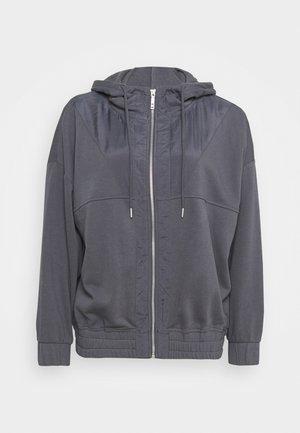 PANELLED ZIP THROUGH HOODIE - Felpa con zip - pewter grey