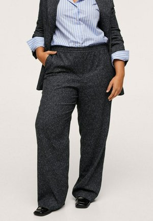 FLECKED - Trousers - grey
