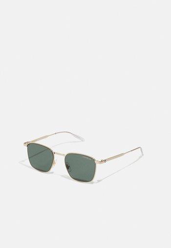 UNISEX - Gafas de sol - gold-coloured/green