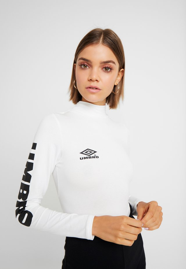 UMBRO CARA WOMEN - Long sleeved top - bright white/stretch limo