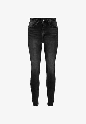 HIGH WAIST - Jeans Skinny Fit - black denim