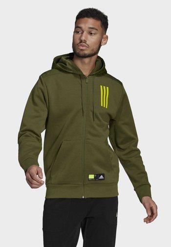 ADIDAS SPORTSWEAR OVERLAY FULL-ZIP TRACK TOP - veste en sweat zippée - green