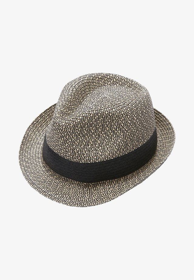 Hat - beige placed print