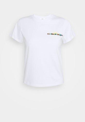SUNSHINE LOGO SLIM FIT  - Print T-shirt - white