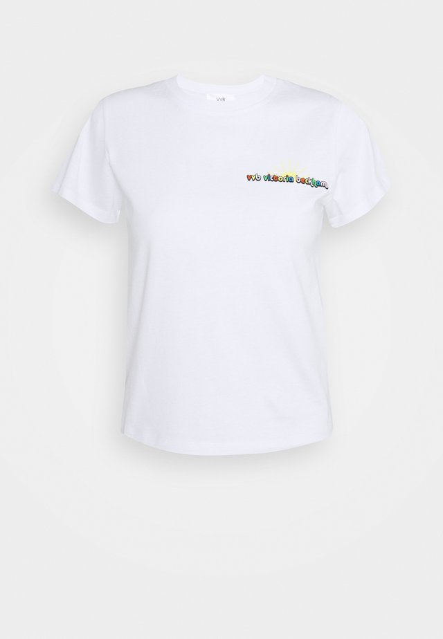 SUNSHINE LOGO SLIM FIT  - T-shirt print - white