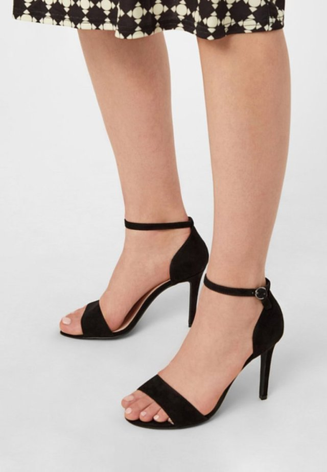 High heeled sandals - anthracite