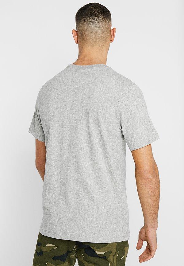 Nike Sportswear CLUB TEE - T-shirt basic - dark grey heather/black/srebrny Odzież Męska DRXC