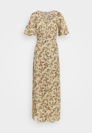 SLEEVE BUTTON THROUGH MAXI - Day dress - light yellow