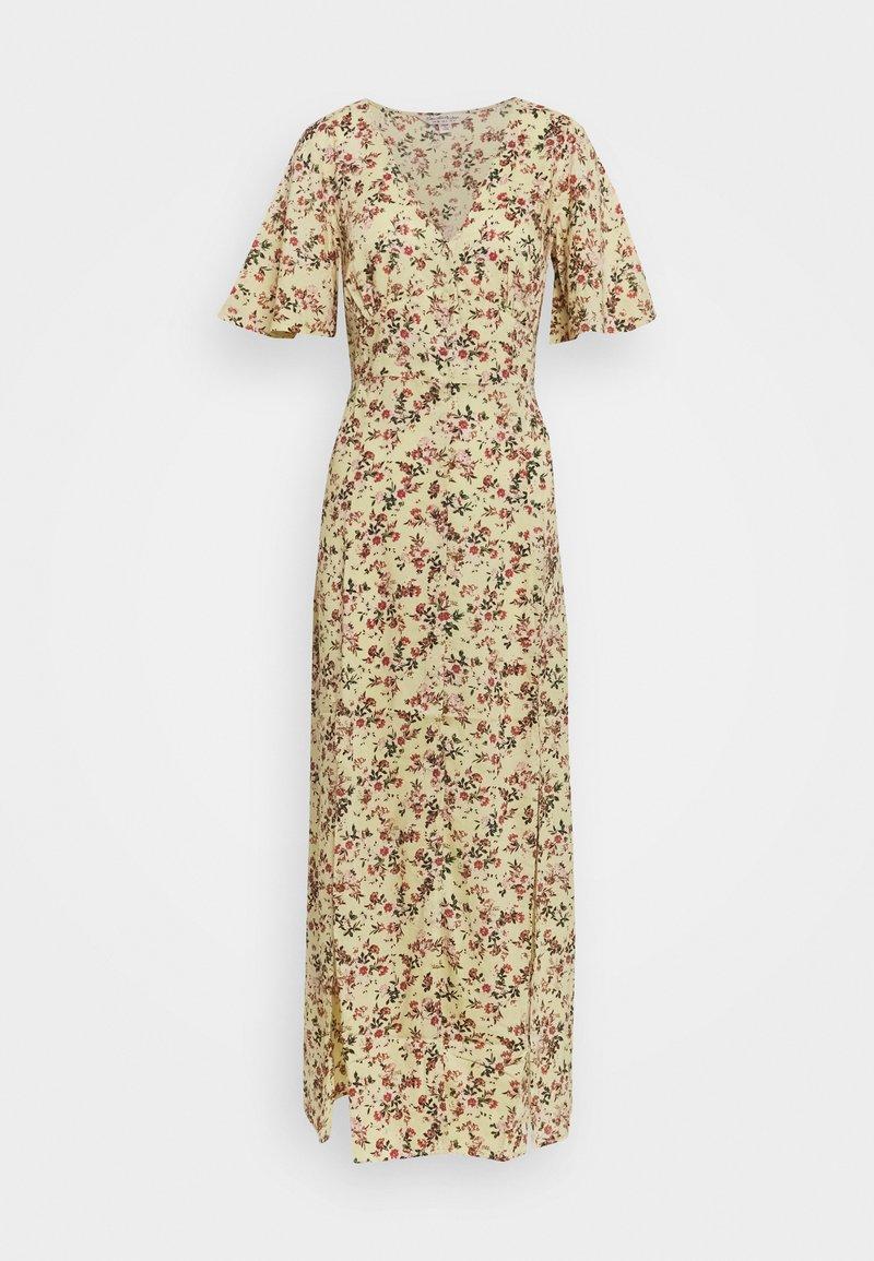 Miss Selfridge - SLEEVE BUTTON THROUGH MAXI - Day dress - light yellow