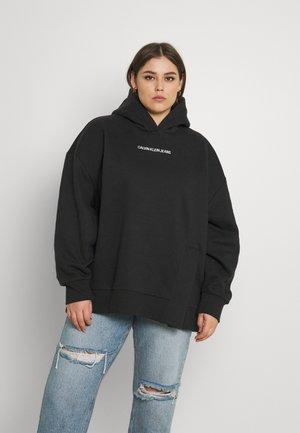 SHADOW LOGO SPLIT HOODIE - Sweatshirt - black