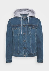 SIKSILK - JACKET WITH DETACHABLE HOOD - Spijkerjas - blue denim