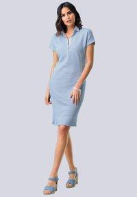 Alba Moda - Shirt dress - hellblau weiß - 1