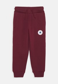 Converse - CHUCK PATCH - Tracksuit bottoms - dark burgundy - 0