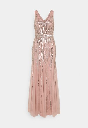 BEADED GOWN WITH GODETS - Occasion wear - candied ginger