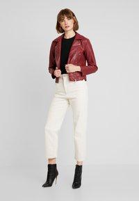 JDY - YONG JACQUELINE - Faux leather jacket - pomegranate - 1