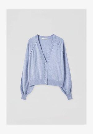 Cardigan - mottled blue